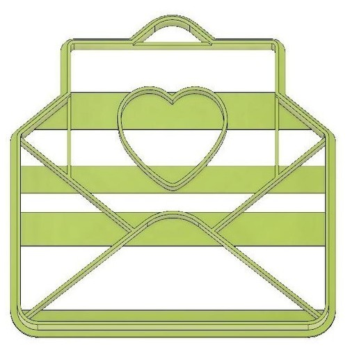 Download 3D printing designs FONDANT COOKIE CUTTER HEART LETTER, LOVE, mipm