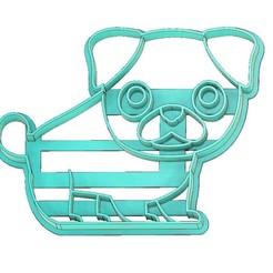 Download 3D printing templates PUG DOG COOKIE CUTTER, DOG COOKIE CUTTER, PET COOKIE CUTTER, COOKIE CUTTER, FONDANT CUTTER, mipm