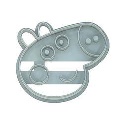 George Pig Cookie Cutter.jpg Télécharger fichier STL MOULE À BISCUIT DE COCHON À POIVRE, MOULE À BISCUIT DE COCHON GEORGE, MOULE À FONDANT, COCHON À POIVRE, GEORGE • Modèle pour imprimante 3D, mipm