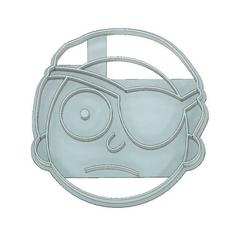 Download 3D printer files COOKIE CUTTER, FONDANT, RICK AND MORTY, PIRATE MORTY, mipm