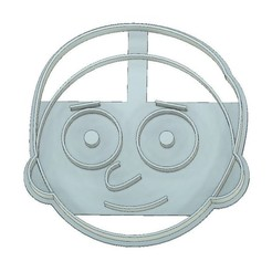 Download 3D printer designs COOKIE CUTTER, FONDANT, RICK AND MORTY, HAPPY MORTY, mipm