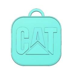 CAT Logo Keychain .jpg Download STL file CAT LOGO KEYCHAIN, CATERPILLAR KEYCHAIN, ENGINEER KEYCHAIN, KEYCHAIN  • Design to 3D print, mipm