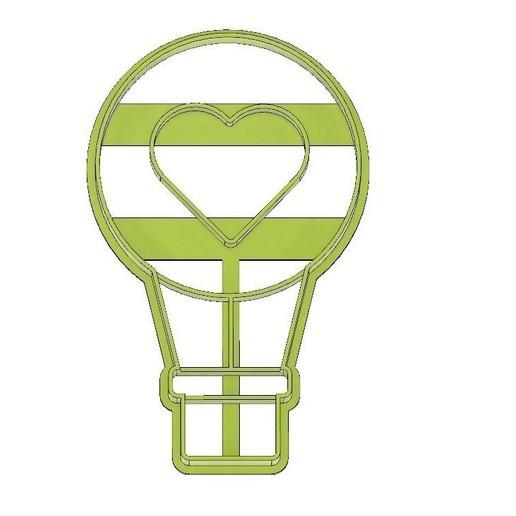Download 3D printer designs CORTADOR DE GALLETAS FONDANT GLOBO DE AIRE CALIENTE CORAZON, GLOBO AEROSTATICO , mipm