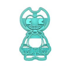 Download 3D printer designs BENDY COOKIE CUTTER, BENDY AND THE INK MACHINE COOKIE CUTTER, COOKIE CUTTER, FONDANT CUTTER, mipm