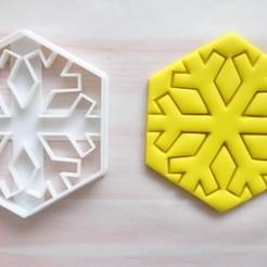 Download STL files Snowflake cookie cutter, mipm
