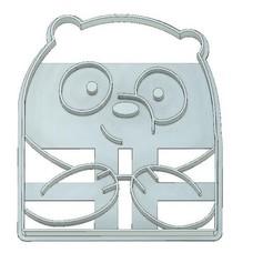 Download 3D printer files COOKIE CUTTER, FONDANT, PANDA WE BARE BEARS, mipm