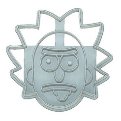 Download 3D printer model COOKIE CUTTER, FONDANT, RICK AND MORTY, RICK FACE, mipm