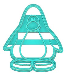 Download 3D printer model CLUB PENGUIN COOKIE CUTTER, PENGUIN COOKIE CUTTER, COOKIE CUTTER, FONDANT CUTTER, mipm