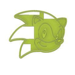 Download 3D printer designs CORTADOR DE GALLETAS, CORTADOR FONDANT CARA SONIC, mipm