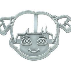 Download 3D printing designs MONSTERS INC COOKIE CUTTER, BOO COOKIE CUTTER, FONDANT CUTTER, MONSTERS INC, BOO, mipm