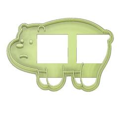Grizzly Cookie Cutter.jpg Download STL file COOKIE CUTTER, FONDANT GRIZZLY WE BARE BEARS • 3D print design, mipm