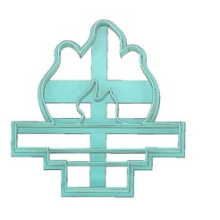 Olympic Torch Cookie Cutter 2.jpg Download STL file TORCH COOKIE CUTTER, SPORTS COOKIE CUTTER, OLYMPIC TORCH COOKIE CUTTER, OLYMPIC GAMES COOKIE CUTTER, SPORTS, OLYMPIC TORCH, OLYMPIC GAMES • 3D print model, mipm