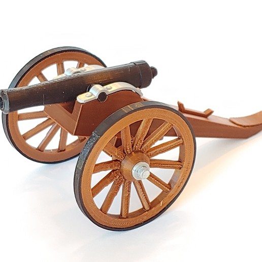 C-Cannon01.jpg Download free STL file Civil War Cannon • 3D print template, pdasher