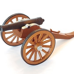Download free 3D model Civil War Cannon, pdasher