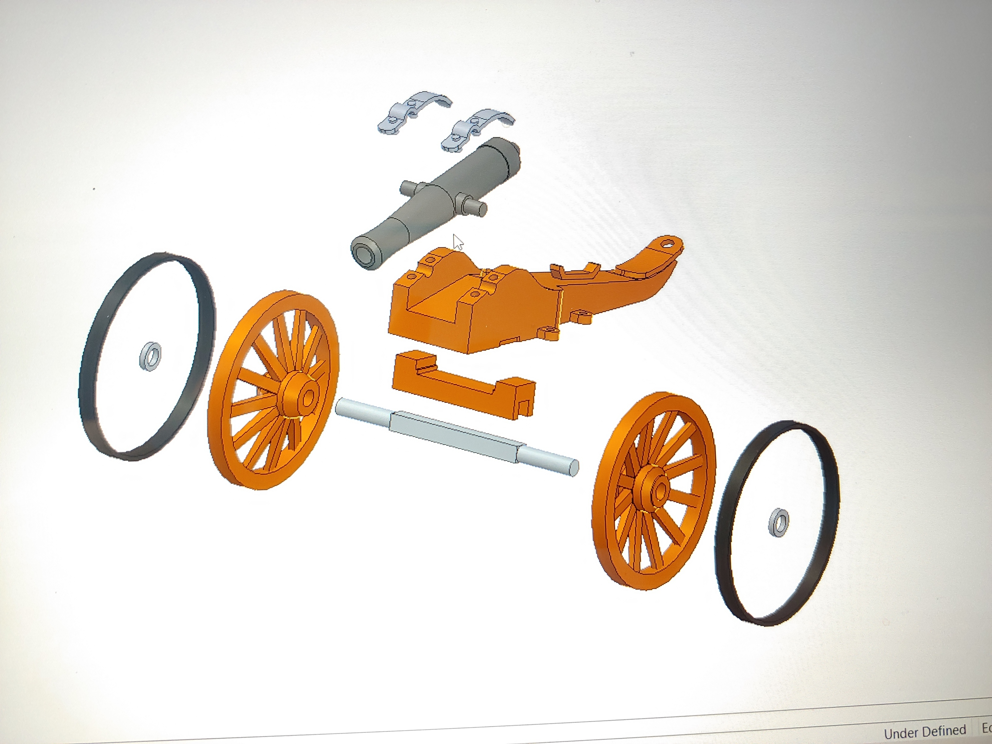 C-Cannon_Exploded.jpg Download free STL file Civil War Cannon • 3D print template, pdasher