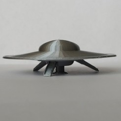 Download free STL Forbidden PLanet Spaceship C57-D, pdasher