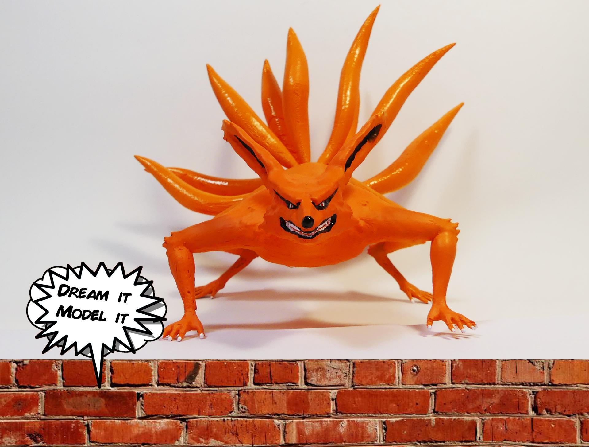 kyuubi.png Télécharger fichier OBJ gratuit Kyuubi[Naruto] • Plan imprimable en 3D, Dream_it_Model_it