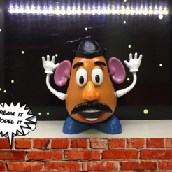 mr potato head.png Download free STL file Mr. Potato Head [Toy Story] • 3D printer template, Dream_it_Model_it