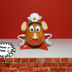 Télécharger objet 3D gratuit Mme Potato Head[Toy Story], Dream_it_Model_it