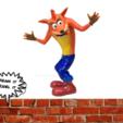 crash.png Télécharger fichier OBJ gratuit Crash Bandicoot • Design pour impression 3D, Dream_it_Model_it