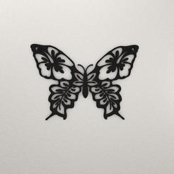 Butterfly Wall Decoration KTWDB01-ktkaraj-3drender.jpg Télécharger fichier STL Décoration murale en forme de papillon KTWDB01 • Design imprimable en 3D, KTkaRAJ