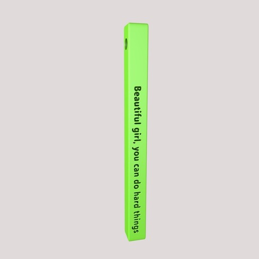 "Download free 3D model Vertical Bar Customized Pendant ""Beautiful girl, you can do hard things"" 3D Model STL, KTkaRAJ"