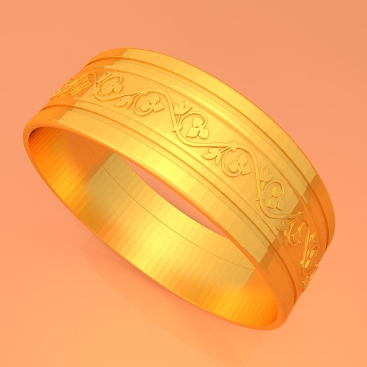 Download free 3D printer templates WEDDING GOLD RING KTWR03, KTkaRAJ