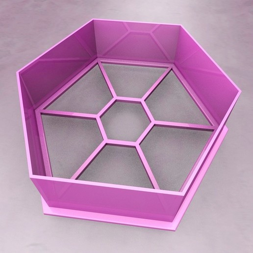 Descargar diseños 3D gratis CORTADOR DE GALLETAS HEXAGONAL, KTkaRAJ