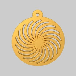 Download 3D printing templates Spiral Die Cutting Pendant Keychain KTPD01 3D Model STL, KTkaRAJ