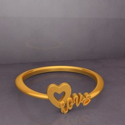 Preview-02-Heart LOVE Fancy Ring design 3D Print KTFRD01 by KTkaRaj.jpg Télécharger fichier STL gratuit KTFRD01 Heart LOVE Fancy Ring design 3D Print • Design pour imprimante 3D, KTkaRAJ