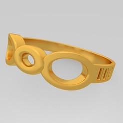 Download 3D printing designs Jewelry Cad 3d Ring Model Stl - KtkarajRing01, KTkaRAJ