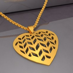 Download 3D printer designs Filigree Heart Pendant KTFHP02 3D Model STL, KTkaRAJ