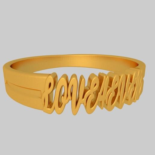 Download free 3D printing files Love Forever Ring KTRT01 3D Model STL, KTkaRAJ