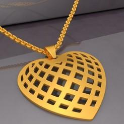 Preview01-Filigree Heart Pendant KTFHP01 3D Model STL.jpg Télécharger fichier STL Pendentif Coeur Filigrane KTFHP01 Modèle 3D STL • Modèle pour impression 3D, KTkaRAJ