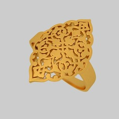 Download free 3D printer model Filigree Fancy Ring KTRF01 3D STL, KTkaRAJ