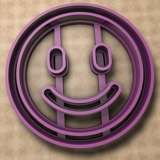 Descargar modelos 3D Cortador de galletas Emoji Smile, KTkaRAJ