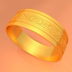 Descargar Modelos 3D para imprimir gratis Anillo de Oro para Bodas KTWR01, KTkaRAJ