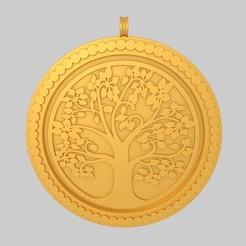 Download free 3D printer model Tree of Life Pendant Keychain  KTPF01 3D Model STL, KTkaRAJ