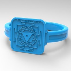 Download free 3D print files Chakra Tripura Bhairavi Ring Yantra Meditation Symbol, KTkaRAJ
