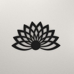 Lotus Flower Wall Decoration KTWDF01-Ktkaraj-3D render.jpg Download STL file Lotus Flower Wall Decoration KTWDF01 • Object to 3D print, KTkaRAJ