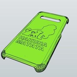 CARCASA S10 REY LEON HAKUNA MATATA.jpg Télécharger fichier STL gratuit Boîtier Samsung S10 Lion King S10 • Design à imprimer en 3D, MiguelJ