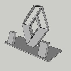 Download free 3D printer model Renault phone support, MiguelJ
