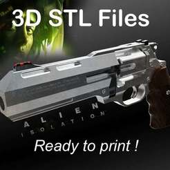 il_1140xN.2423783929_635w.jpg Télécharger fichier STL Alien : le revolver de l'isolement • Design pour imprimante 3D, buissonland