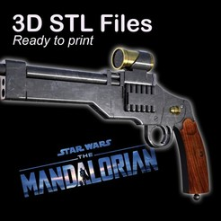 "PUB1.jpg Download STL file Marshall's Gun from ""The Mandalorian"" • Object to 3D print, buissonland"