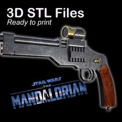 """PUB1.jpg Télécharger fichier STL Le pistolet de Marshall dans """"The Mandalorian"""" • Modèle à imprimer en 3D, buissonland"""