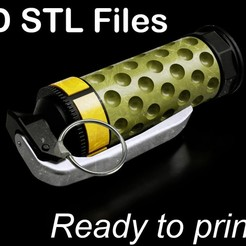 "GITS_Grenade2 PUB.jpg Télécharger fichier STL Ghost in the Shell ""Grenade Yakuza"" (Fantôme dans la coquille) • Plan pour impression 3D, buissonland"