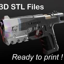Militech_Lex PUB.jpg Download STL file Cyberpunk 2077 - Militech M-10AF Lexington 9mm • 3D printable design, buissonland