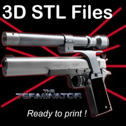 "Pub.jpg Download STL file Terminator ""AMT Harballer"" with Lasersight Replica • 3D printable object, buissonland"