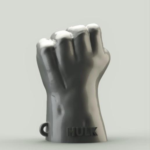 Télécharger plan imprimante 3D gatuit Porte-clé Hulk Fist, h3ydari96
