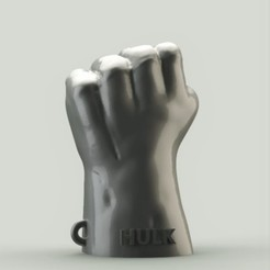 Download free 3D print files Hulk Fist Keychain, h3ydari96